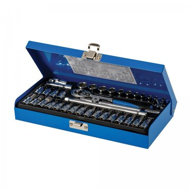 38Pce Socket Wrench Set 1/4in Drive Metric