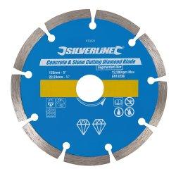 Concrete & Stone Cutting Diamond Blade 125 x 22.23mm Segmented Rim