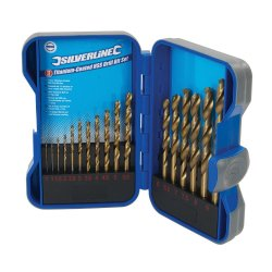 17Pce Titanium-Coated HSS Drill Bit Set