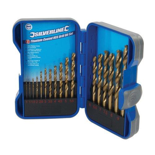 17Pce Titanium-Coated HSS Drill Bit Set