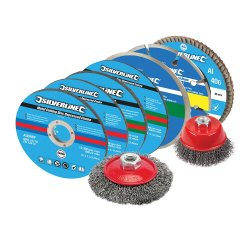 12Pce Cutting & Grinding Discs Kit 115mm
