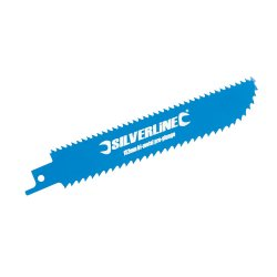 Double-Sided Recip Saw Blade for Wood HCS 6tpi & BiM 8tpi [Pack of 3]