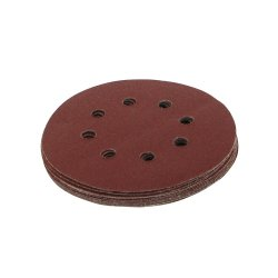 125mm Hook & Loop Discs Punched 80 Grit [Pack of 10]