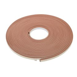 Self-Adhesive E-Profile Weather Strip 3 - 5mm / 15m Brown
