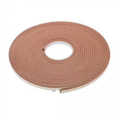 Self-Adhesive E-Profile Weather Strip 3 - 5mm / 15m Brown