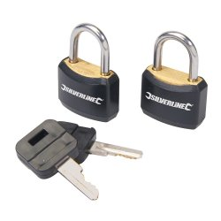 2Pce Padlock Set Keyed Alike 20mm