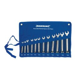 12 Piece Reversible Ratchet Spanner Set