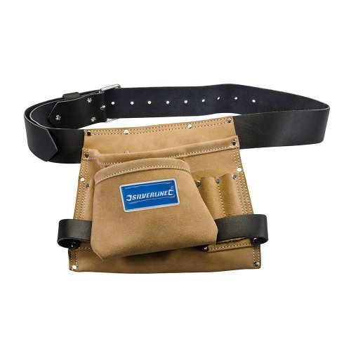 Leather Nail & Tool Bag 8 Pocket 260 x 230mm