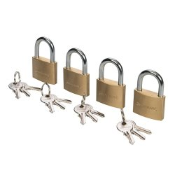 Brass Padlock Keyed Alike 40mm [Pack of 4]