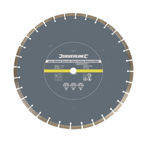Laser-Welded Concrete & Stone Cutting Diamond Blade 450 x 25.4mm Segmented Rim