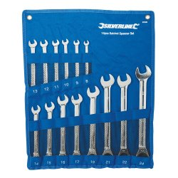 14Pce Fixed Head Ratchet Spanner Set 8 - 24mm
