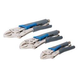 3Pce Self Locking Soft-Grip Pliers Set