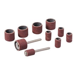 12Pce Rotary Tool Drum Sanding Kit 6.35mm (1/4in) & 12.70mm (1/2in)