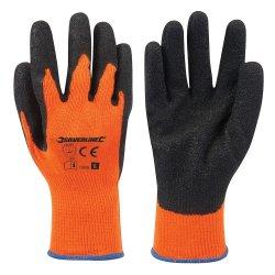 Hi-Vis Builders Gloves Orange [Large]