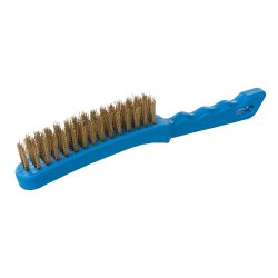 Brassed Wire Brush Plastic 4 Row