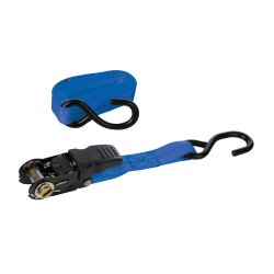 Rubber-Handled  Ratchet  Tie  Down  J-Hook  Straps  [4.5m  x  25mm]