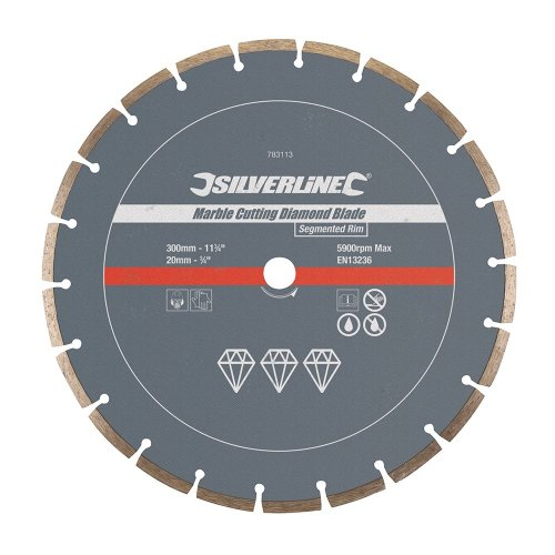 Marble Cutting Diamond Blade 300 x 20mm Segmented Rim