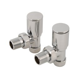 15mm Angled Heated Towel Radiator Valves [Pack of 2]