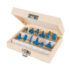 12Pce 1/4in TCT Router Bit Set