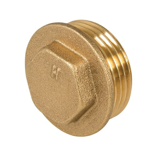 Brass Flanged Plug 1in Male