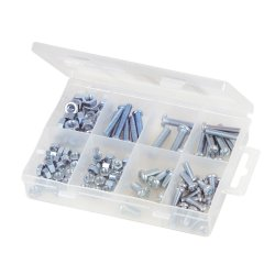 105Pce Machine Screws & Nuts Pack