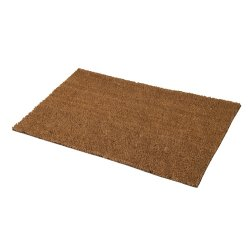 PVC Back-Tufted Plain Natural Mat 450 x 750mm