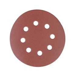 125mm Hook & Loop Discs Punched 40 Grit [Pack of 10]