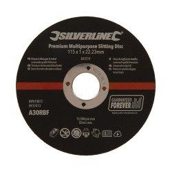 115 x 1 x 22.23mm Premium Multipurpose Slitting Disc [Pack of 10]
