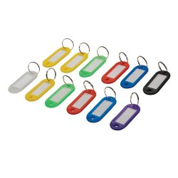 Assorted Coloured Key ID Tags  [Pack of 12]