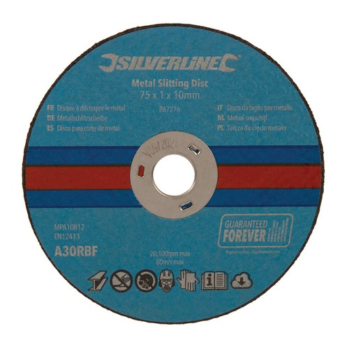 75 x 1 x 10mm Metal Slitting Discs [Pack of 10]