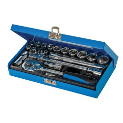20Pce Socket Wrench Set 3/8in Drive Metric