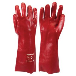 Red PVC Gauntlets [Large]