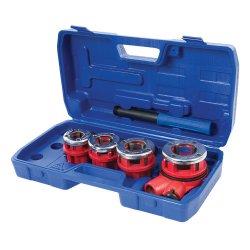 5Pce Pipe Threading Kit 1/2in, 3/4in, 1in & 1-1/4in BSPT