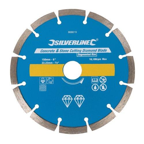 Concrete & Stone Cutting Diamond Blade 150 x 22.23mm Segmented Rim