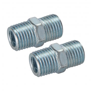 Air Line Equal Union Connector 1/4in BSPT [Pack of 2]