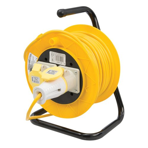 Cable Reel 16A 110V Freestanding 2-Gang 25m