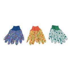 Floral Gardening Gloves Medium  [Pack of 3]