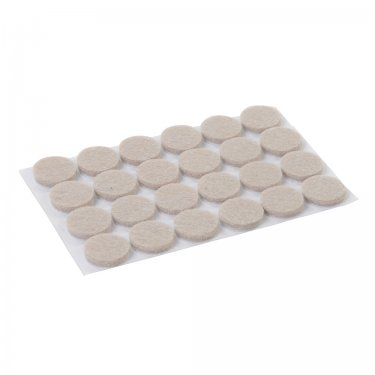 Self Adhesive Felt Pads Protectors 20mm Round [Pack of 24]