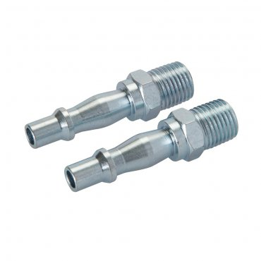 Air Line Bayonet Male Thread Coupler 1/4in BSP [Pack of 2]