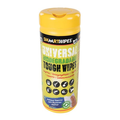 Universal Tough Wipes Biodegradable  [Pack of 40]