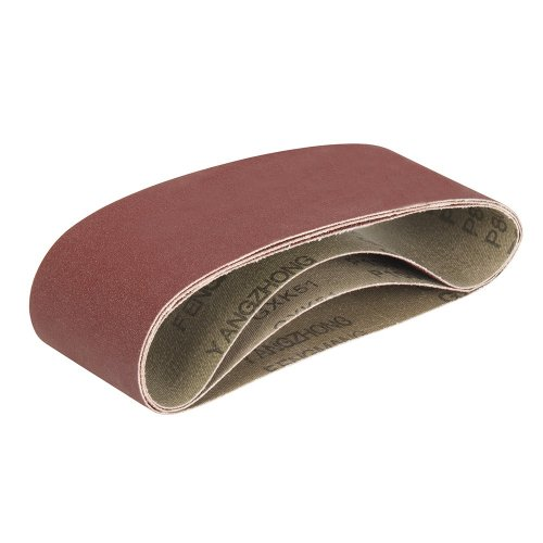 Aluminium Oxide Sanding Belts [Pack of 3 @ 80/100/120G]
