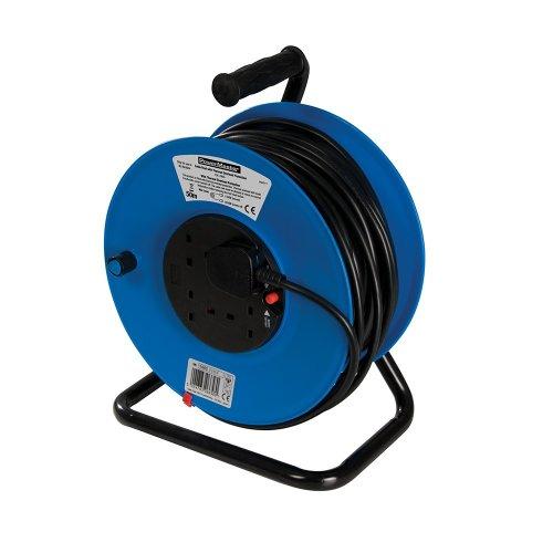 Cable Reel 230V Freestanding 4-Gang 50m