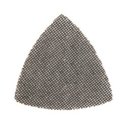 105mm Hook & Loop Mesh Triangle Sheets 180 Grit [Pack of 10]