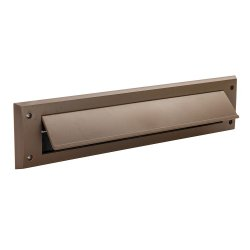 Letterbox Draught Seal with Flap 338 x 78mm Brown