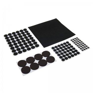 125Pce Self-Adhesive Pads Set Black