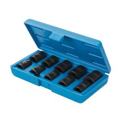 10Pce Impact Socket Set 1/2in Drive 6pt Metric 10 - 22mm