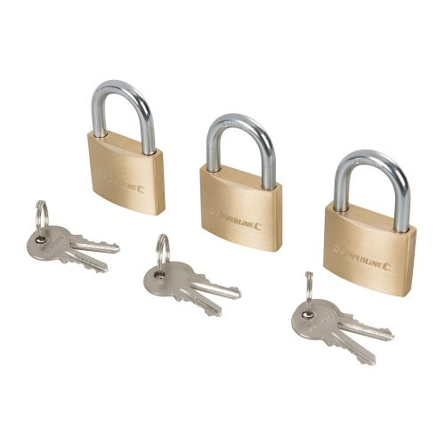 Brass Padlock Keyed to Differ 40mm [Pack of 3]