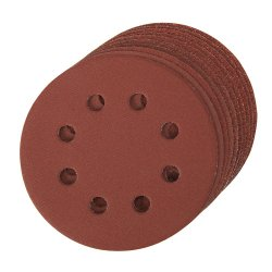 10Pce Hook & Loop Discs Punched 115mm [4 x 60G, 2 x 80G, 120G, 240G]
