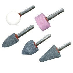 Mounted Stone Set 5pce 1/4in Shank