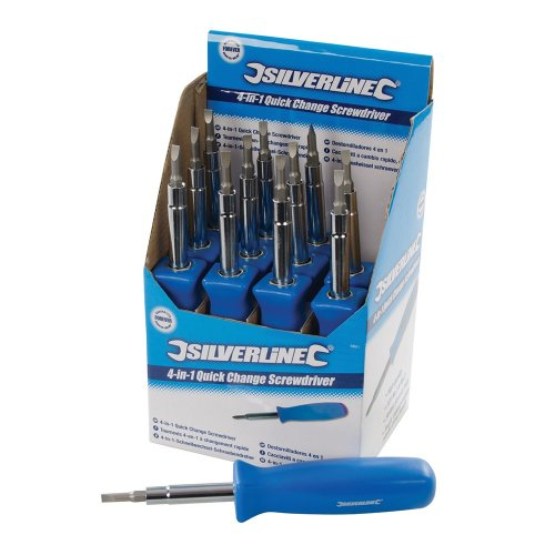 12Pce 4-in-1 Quick Change Screwdriver